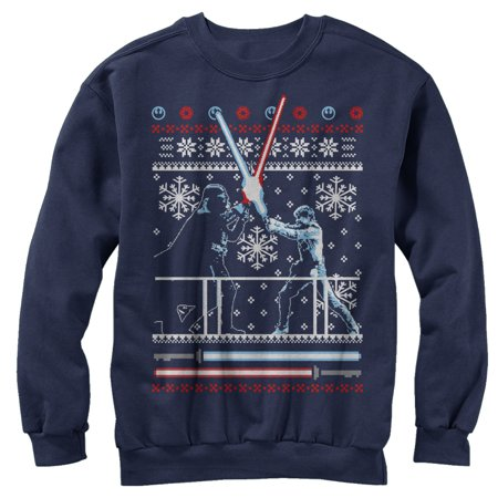 Star Wars Men's Ugly Christmas Sweater Duel Sweatshirt (Ugly Christmas Sweater Star Wars)