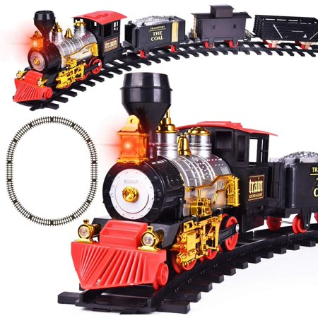 Christmas Train Set with Lights and Sounds for Under The Tree, Electric Toy Train with Railway Tracks, Xmas Gift for Kids F-444 Odakyu Electric Railway