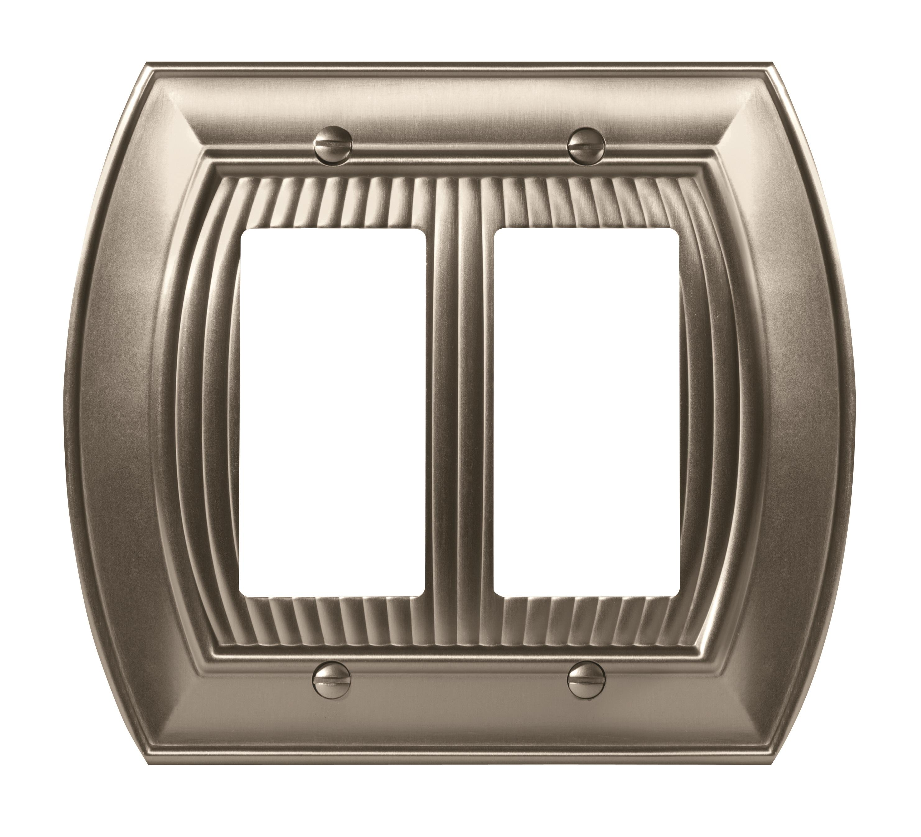 Sea Grass 2 Rocker Satin Nickel Wall Plate