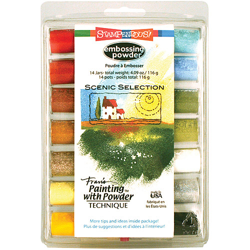 Stampendous Embossing Powder Selection 14/pkg, Scenic, Multi Color