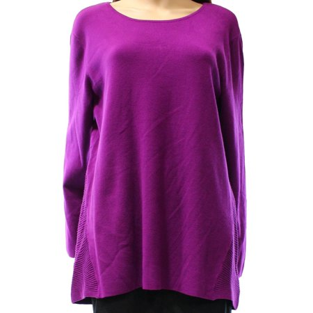 Alfani NEW Purple Iris Glow Women's Size Medium M Tunic Ribbed -
