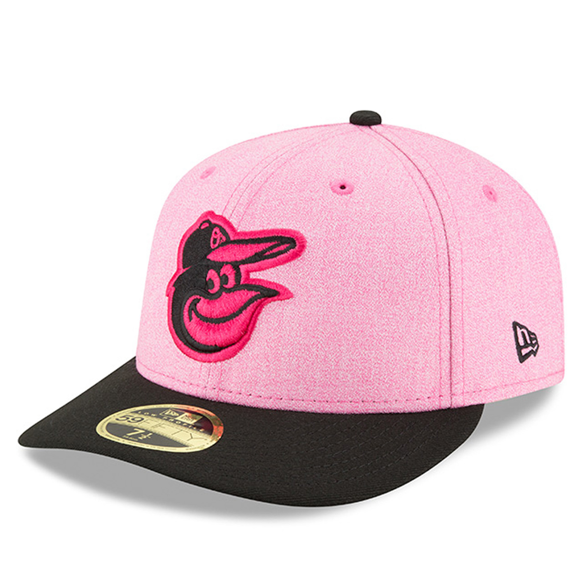 Baltimore Orioles New Era 2018 Mother's Day On-Field Low Profile 59FIFTY Fitted Hat - Pink/Black