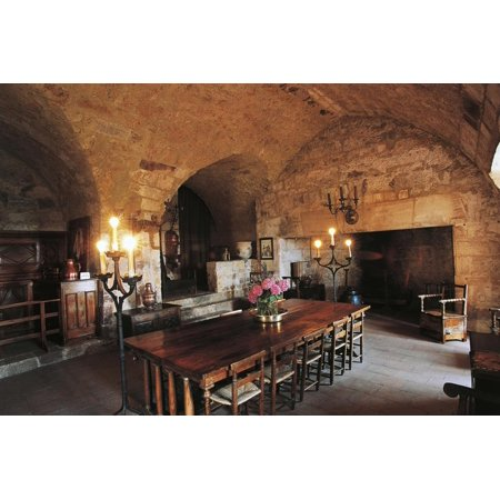 Dungeon Room in Chateau of Turenne, 14th Century, Limousin, France Print Wall Art](Dungeon Wall)