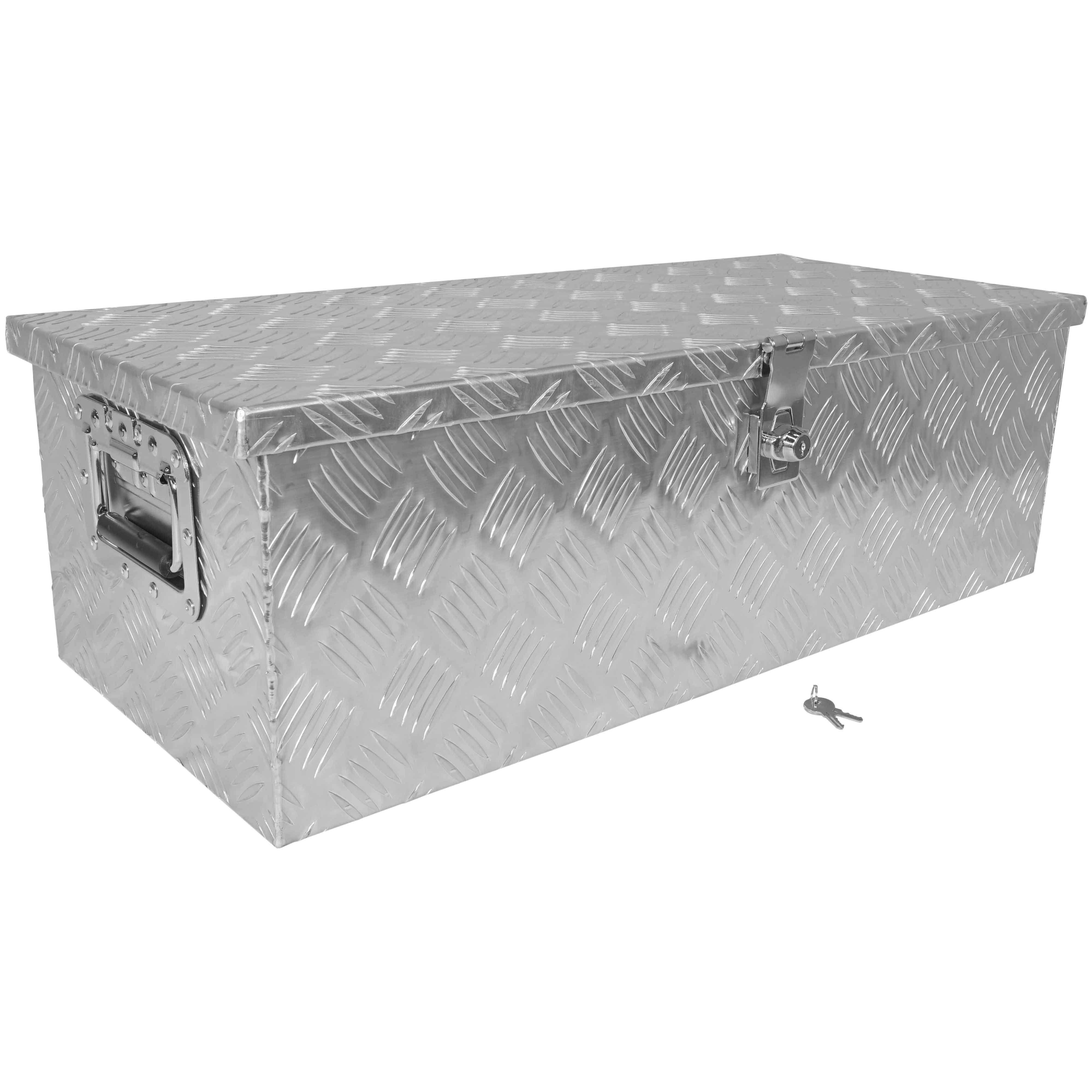 "titan 30"" aluminum truck bed camper tool box w/ lock pickup"