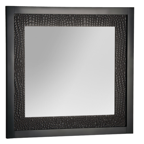Hazelwood Home Wolverhem Brown Bathroom Mirror by