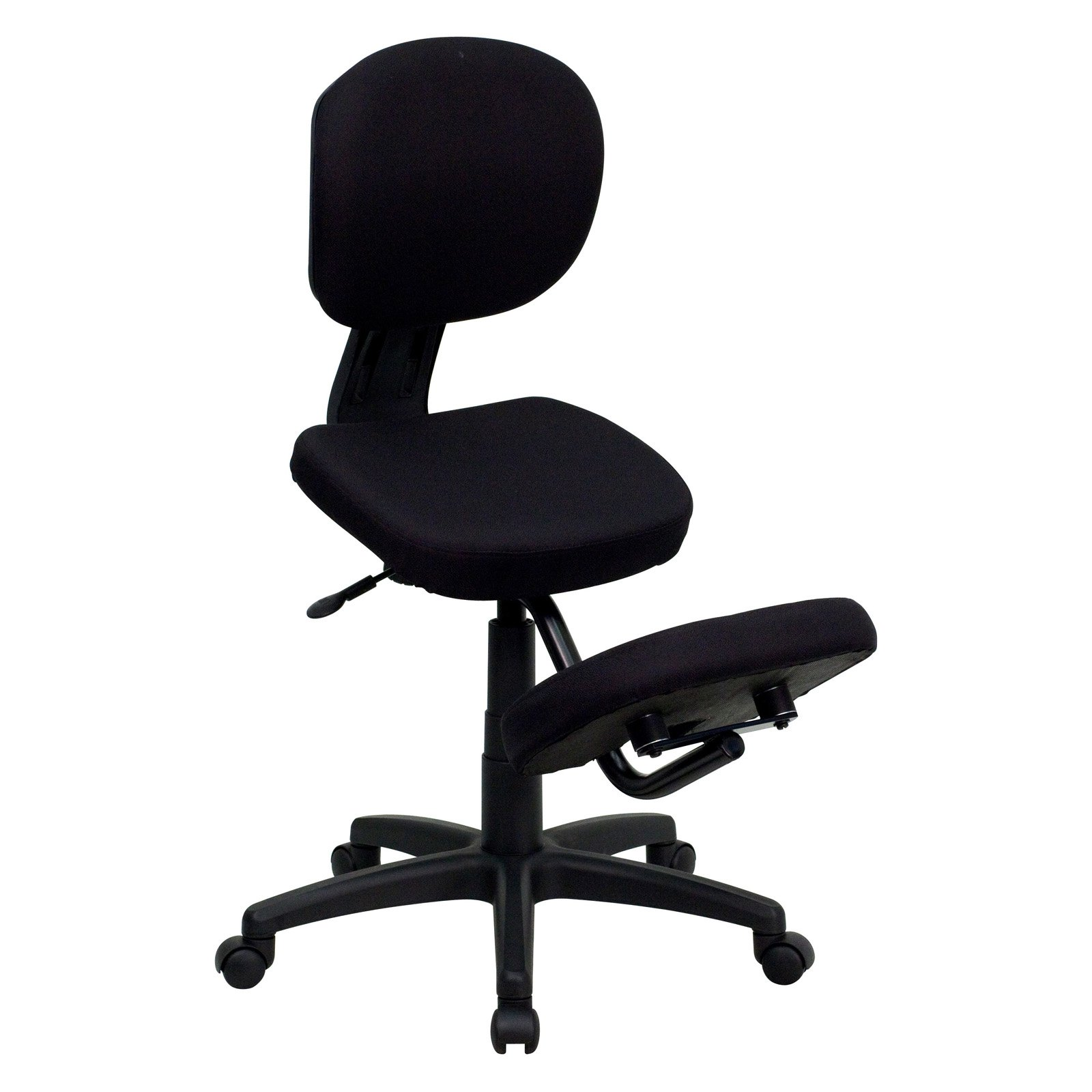 Flash Furniture Ergonomic Kneeling Posture Task Chair with Back - Black Fabric