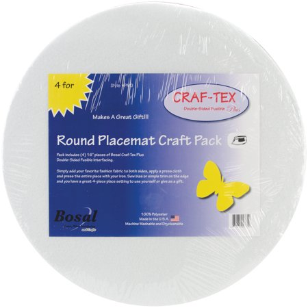 Arts And Crafts Placemats (Bosal Craf-Tex Round Placemat Craft Pack, 16