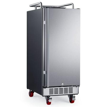 "EdgeStar 15"" Built-in Kegerator Conversion Refrigerator Stainless Steel"
