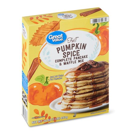 Great Value Pumpkin Spice Pancake and Waffle Mix, 16 oz
