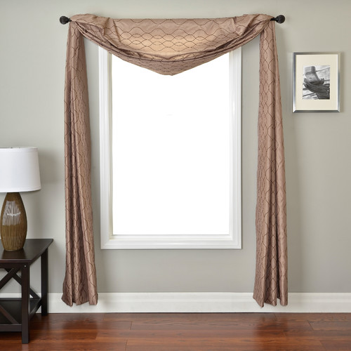 Softline Home Fashions Abbey Window Scarf in Latte