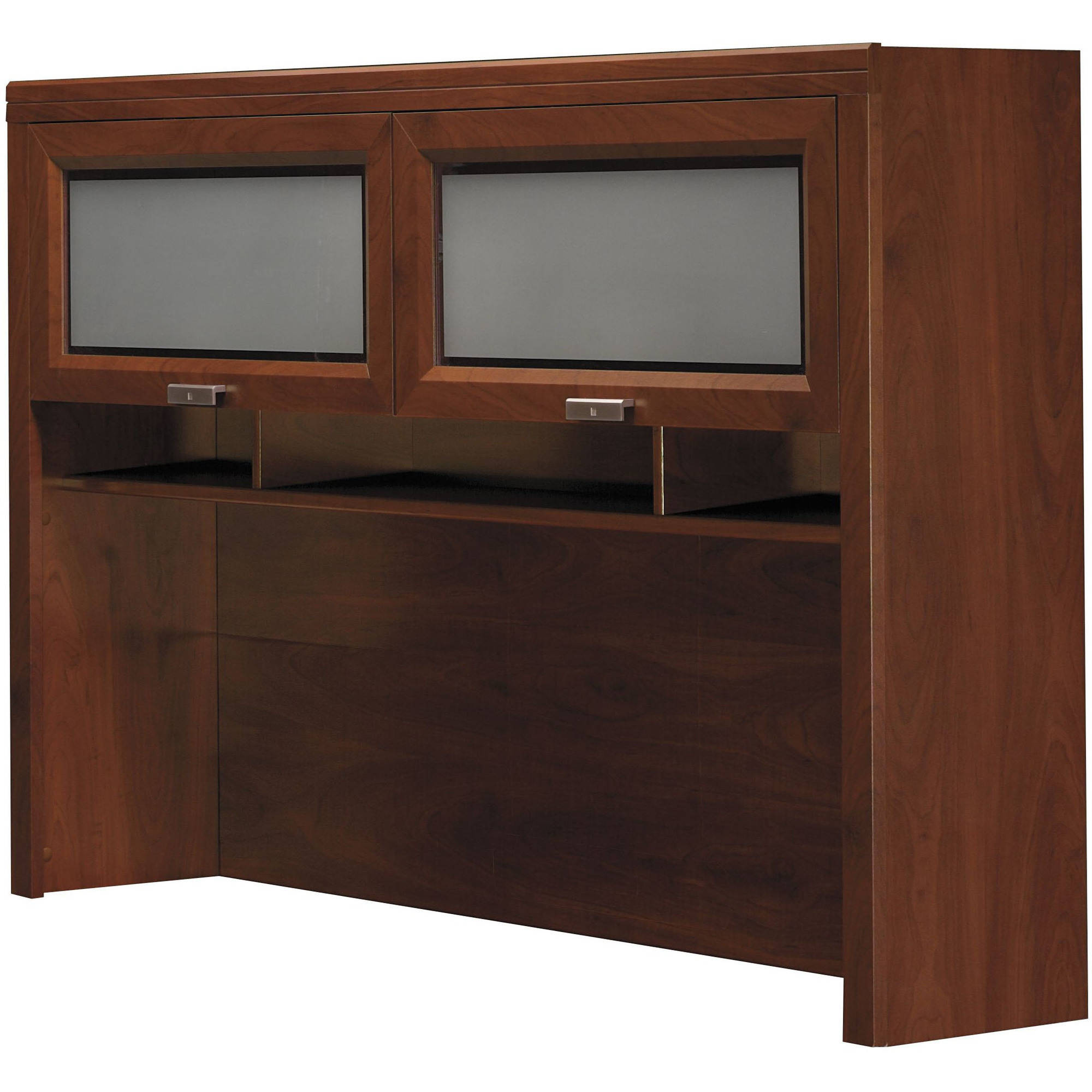 Bush Furniture L-Desk Overhead Hutch