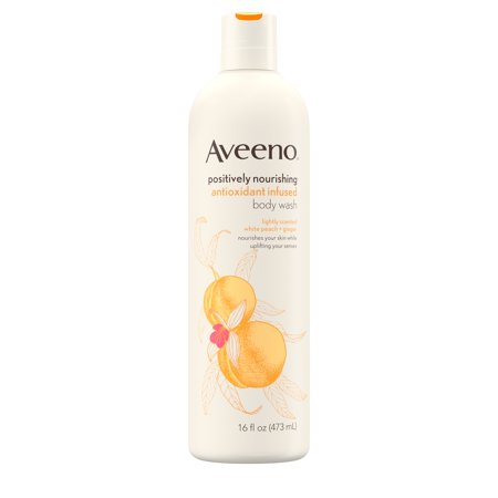 Aveeno Positively Nourishing White Peach & Ginger Body Wash, 16 fl. oz Body Wash Grapefruit Ginger