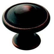 Allison Value 1-3/16 in (30 mm) Diameter Oil-Rubbed Bronze Cabinet Knob - 10 Pack