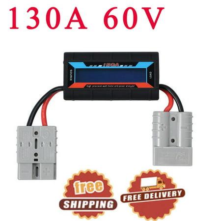 ESYNIC 130A Watt Meter Power Analyzer Digital LCD Volt Solar Amp Plug