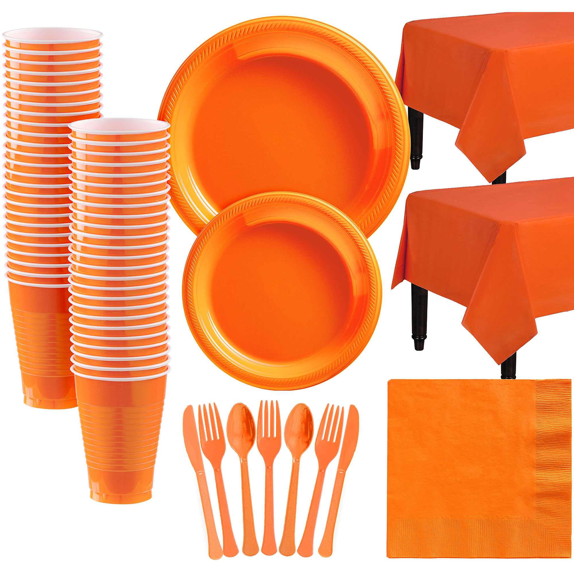 Amscan Plastic Tableware Kit for 50 Guests, Party Supplies ...