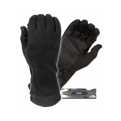 Damascus DNXF190 Flight Gloves with Nomex Backs and Leather Palms, Large, Black