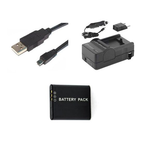 Pentax WG-10 Digital Camera Accessory Kit includes: SDDLi92 Battery, SDM-192 Charger, USB8PIN USB Cable