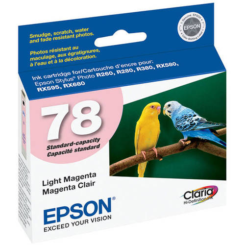 Epson T078620 Claria Hi-Definition Light Magenta Ink Cartridge for Epson Stylus Photo Printers