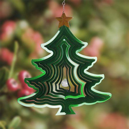 Exhart 15 in. Kinetic Christmas Tree Spinner ()