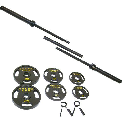 Gold's Gym 110-lb. Olympic Barbell Weight Set