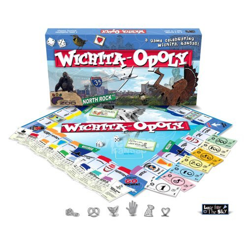 Late for the Sky WICH Wichita-Opoly Board Game
