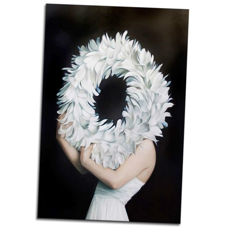 Women Body Art Oil Painting Feather Garland Canvas Hd Print Oil Drawing Human Body Poster Picture Unframed Walmart Canada
