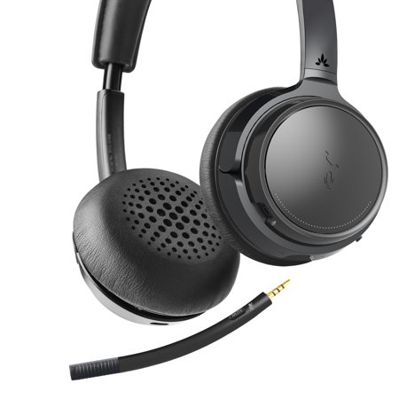 [2019 New!] Avantree AH6B Bluetooth on Ear Headphones with Detachable Microphone, Hi-Fi Wireless Headset, 22hrs Play Time, for Home Office, PC Computer, Conference Calls, Skype, Phones, Tablets (Wireless Video Conferencing)