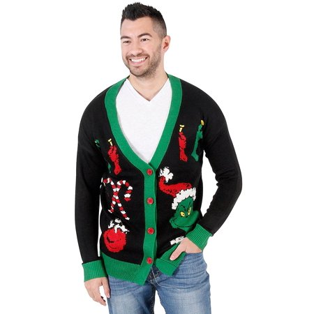 The Grinch Ugly Christmas Cardigan Sweater - Ugly Sweater Pics