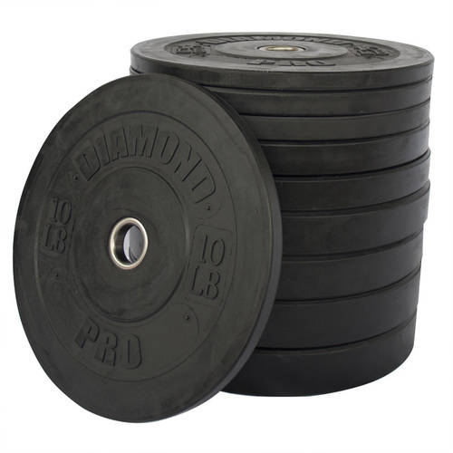 Diamond Pro 260 lb Black Bumper Plate Set