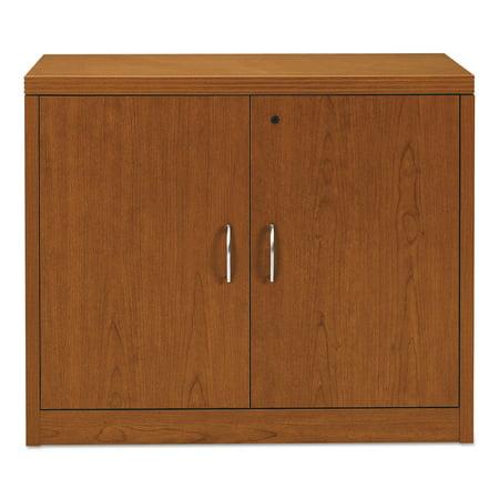 HON 11500 Series Valido Storage Cabinet w/Doors, 36w x 20d x 29-1/2h, Bourbon Cherry Series 5 Shelf Audio Cabinet