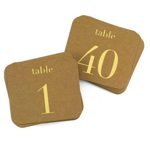 Le Prise 40 Piece Table Number Card Set