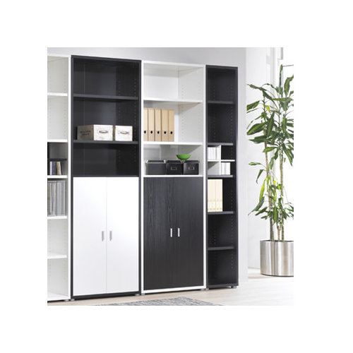 tvilum fairfax narrow bookcase in black woodgrain