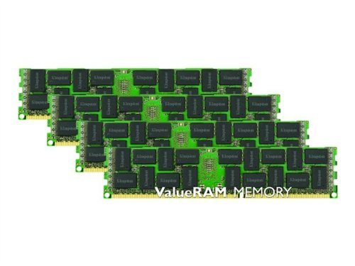 Kingston 64GB 1600MHz DDR3 ECC Reg CL11 DIMM (Kit of 4) DR x4 - 64 GB  - DDR3 SDRAM - 1600 MHz DDR3-1600/PC3-12800 - ECC - Registered - 240-pin DIMM