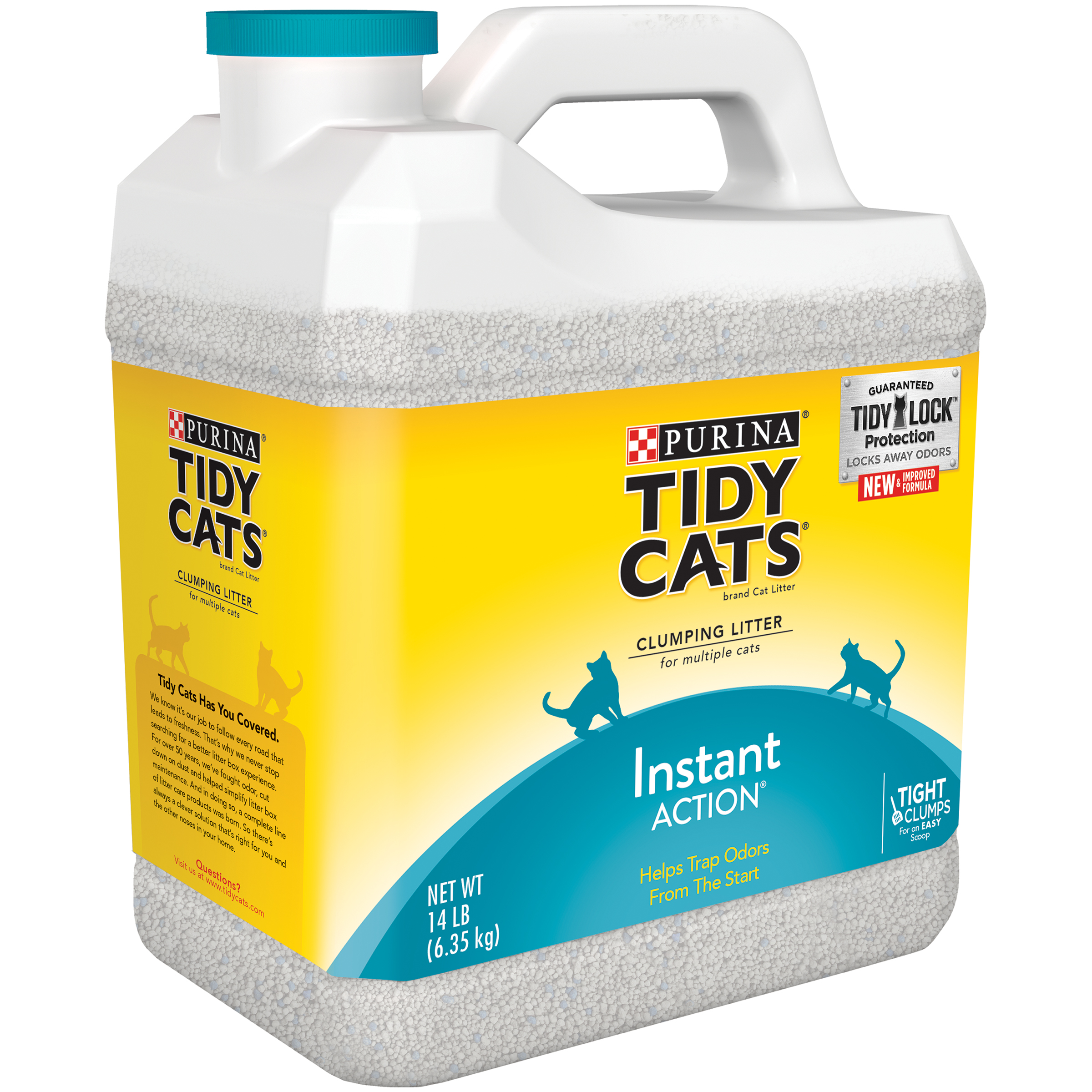 Purina Tidy Cats Clumping Litter Instant Action for Multiple Cats 14 lb. Jug