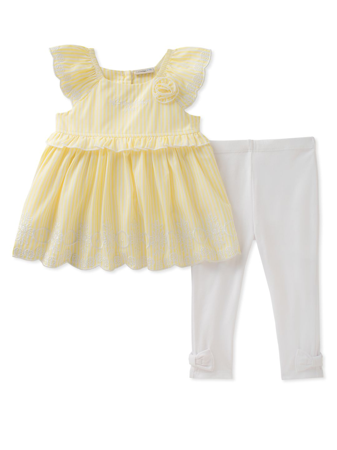 Baby Girls' Two-Piece Ruffle Tunic and Leggings Set