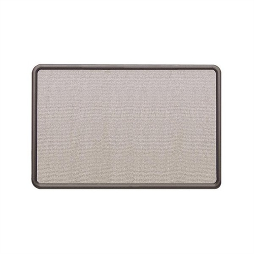 Quartet Contour Fabric Bulletin Board, 48 x 36, Gray, Plastic Graphite Frame 7694G
