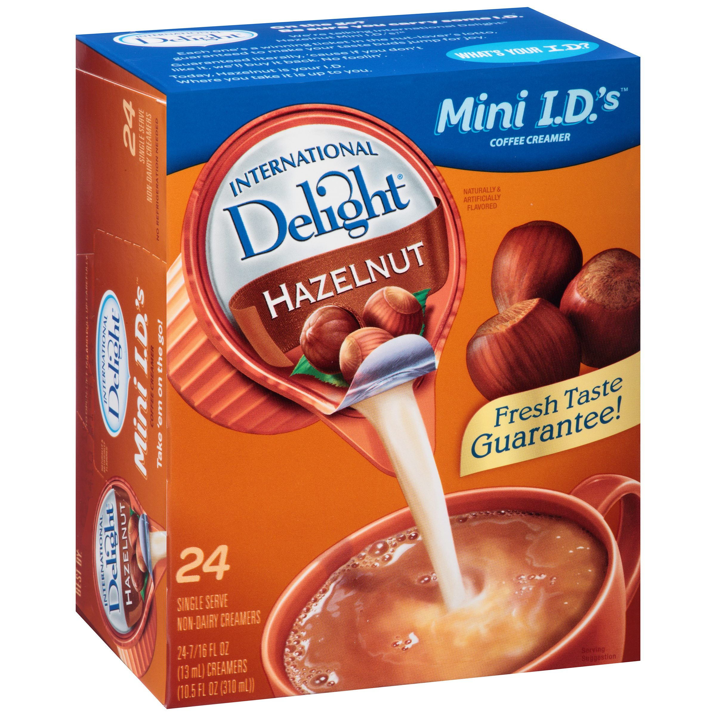 (6 Pack) International Delight Hazelnut Creamers, 24 Ct