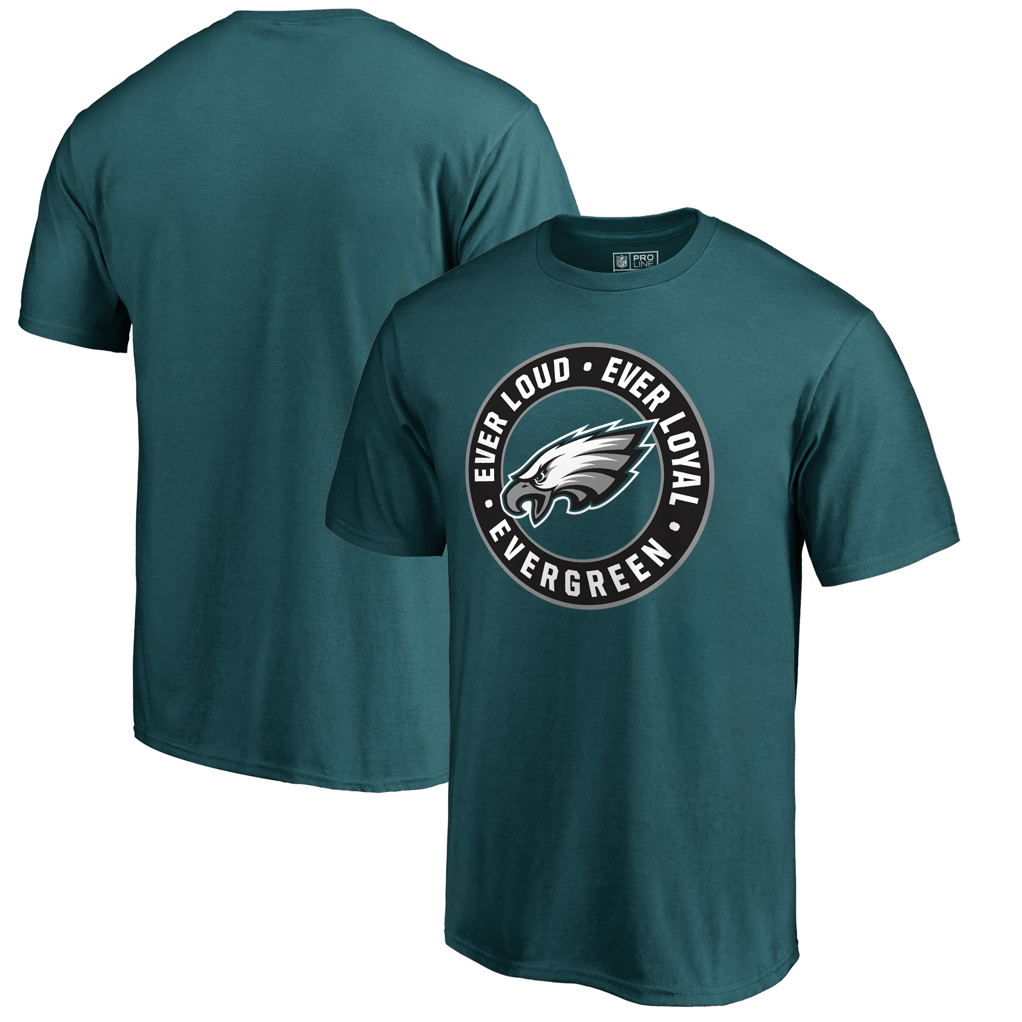 Philadelphia Eagles NFL Pro Line by Fanatics Branded Hometown Collection Evergreen T-Shirt - Midnight Green