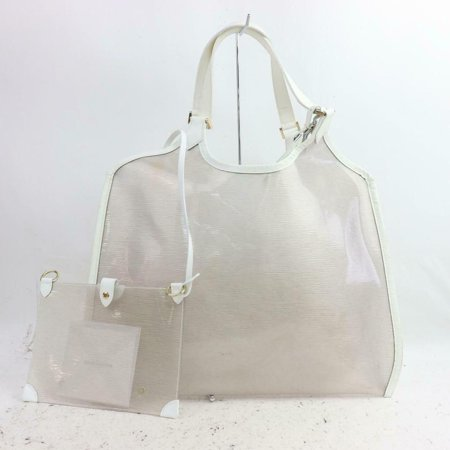 Louis Vuitton See Through Translucent Clear Epi Plage Baia Tote with Pouch 871301