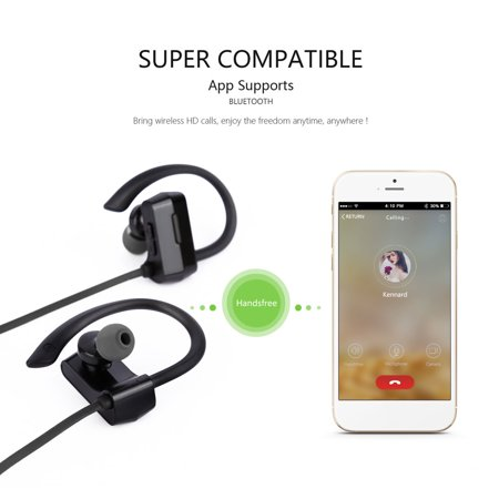 Headphones Wireless Waterproof Sport Headphone Headset with Mic - image 7 of 8