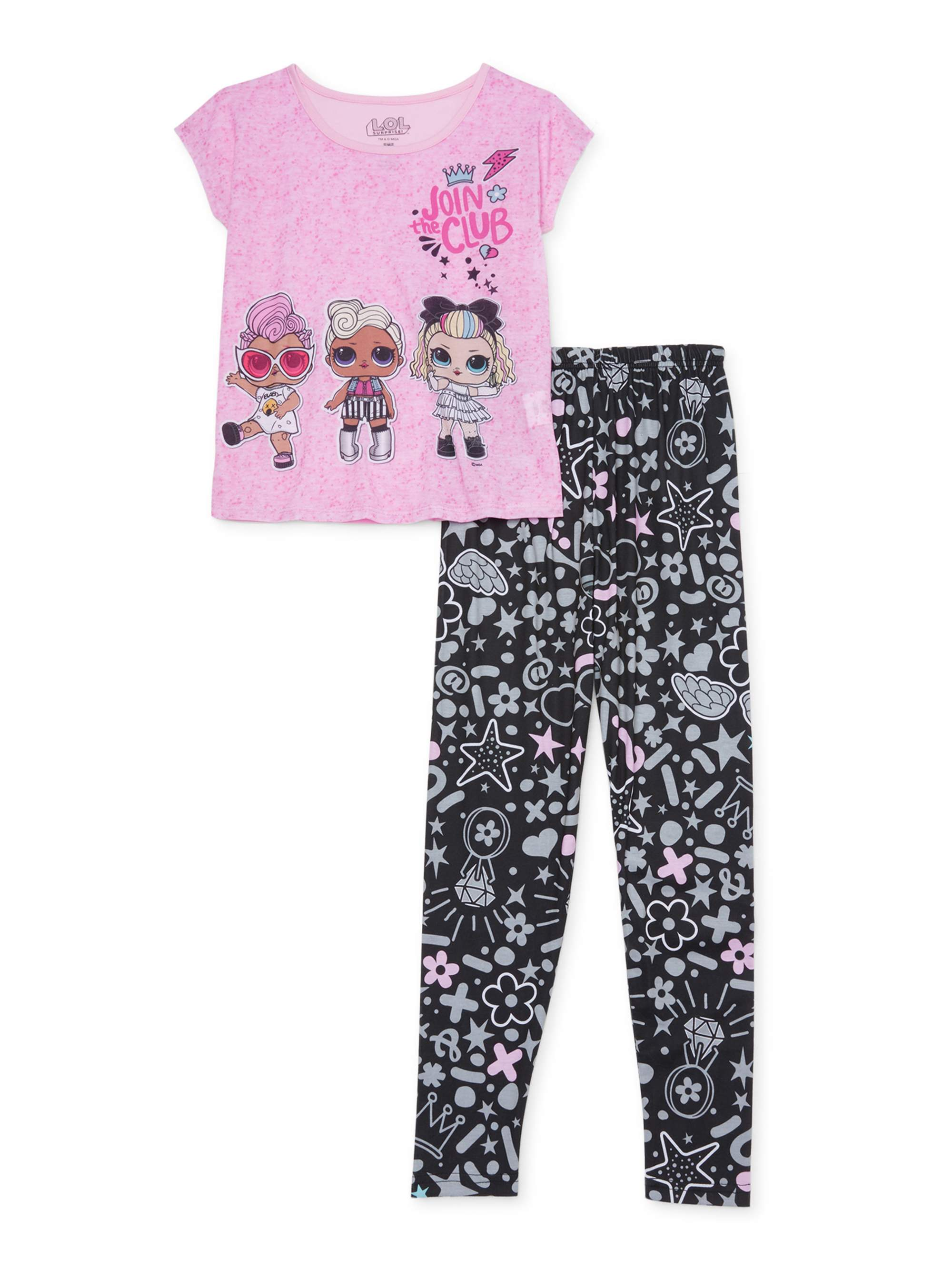 Dorm PJs with Slippers Pajama Set Rocker Diva and MC Swag of LOL Surprise,Girls Pajama Size 4//5 to 10//12 L.O.L Surprise