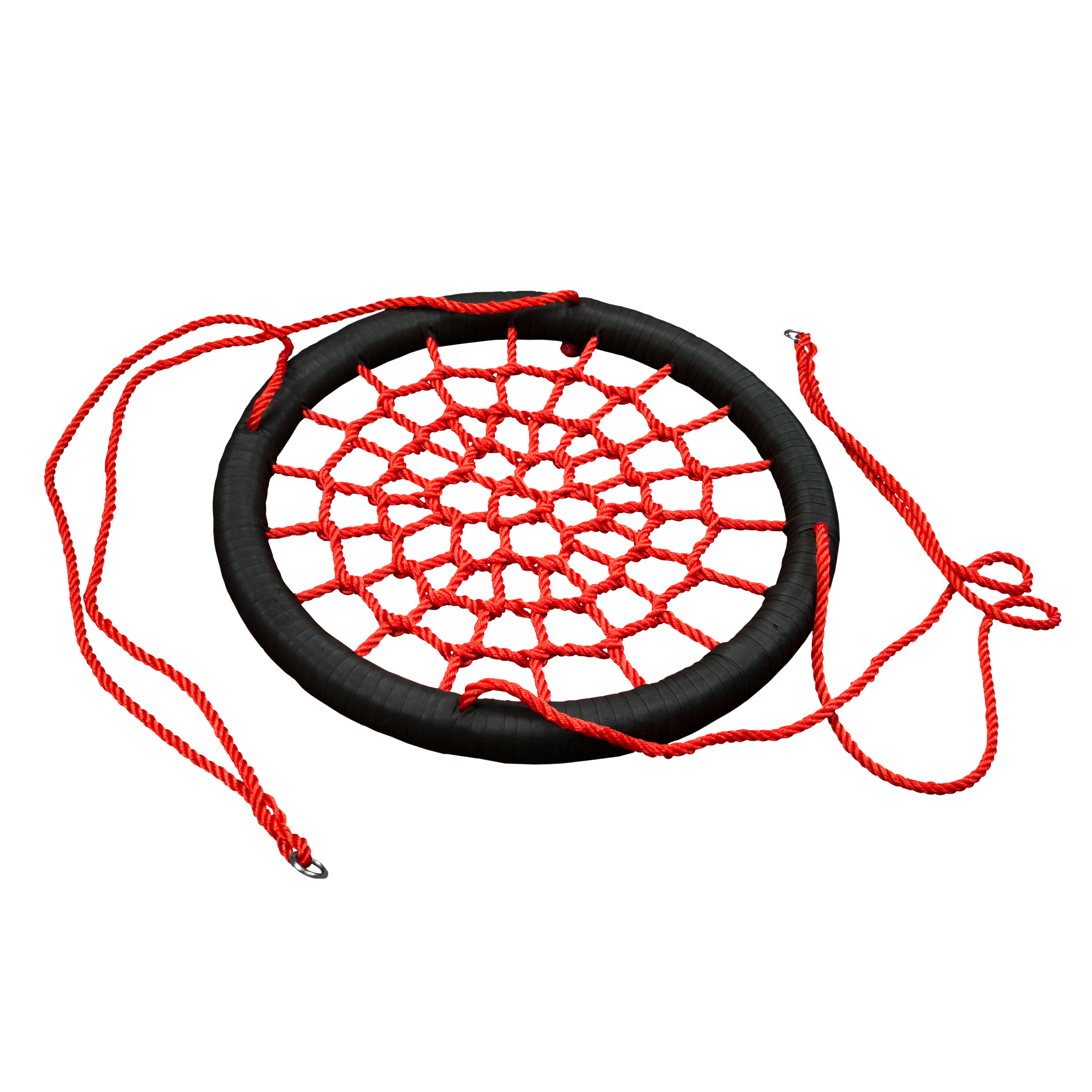 Gorilla Playsets Woven Rope Net Orbit Swing, XL, Red