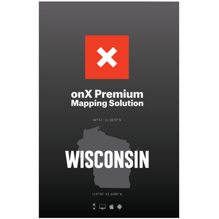 Wisconsin Hunting Maps: onX Hunt Chip for Garmin GPS - Public & Private Land Ownership - Game Management Units & Zones - Includes Premium Membership for onX Hunting App for iPhone, Android & (Best Offline Maps For Android)