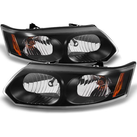 Fit 03-07 Saturn Ion 4 Doors Sedan Black Headlights Replacement - Saturn Aura Sedan