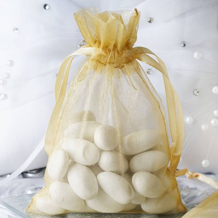 Efavormart 50PCS  Organza Gift Bag Drawstring Pouch for Wedding Party Favor Jewelry Candy Sheer Organza Bags - 4