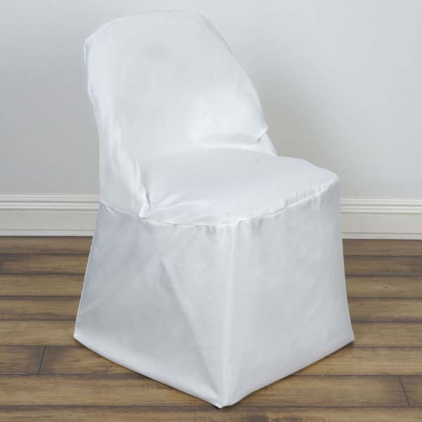 Efavormart Linen Polyester Folding Chair Cover Wedding Party Dinning Chair Slipcovers by