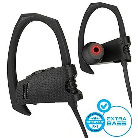 Bluetooth Headphones, Best Wireless Earbuds IPX7 Waterproof Sports Earphones w/Mic HD Stereo Sweatproof in-Ear Earbuds Gym Running Workout 8 Hour Noise Cancelling
