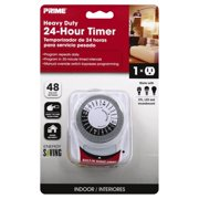 Primewire 1-Outlet 24-Hour Electromechanical Timer with Nightlight