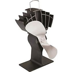 Caframo 3586419 810CAKBX Black Fan Eco Stove with Nickel Blade