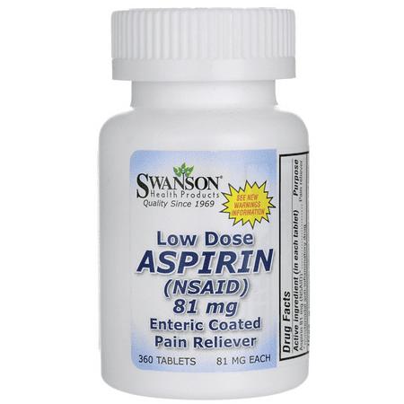 Swanson Low Dose Aspirin Enteric Coated 81 mg 360 Tabs ()